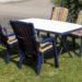 Gartentisch mit Stühlen + Kissen