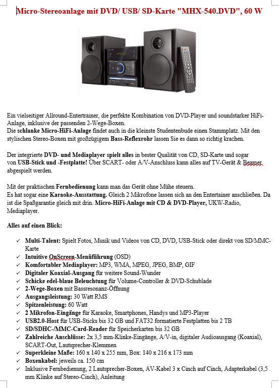Micro-Stereoanlage zu verkaufen